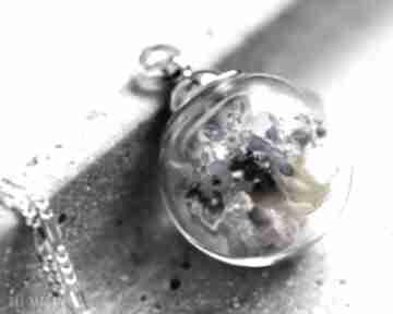 925 srebrny łańcuszek bukiet niezapominajek kwiaty niezapominajka