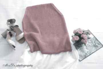 Amarantowy top bluzki mondu top, fuksja, bawełniany, dziergany