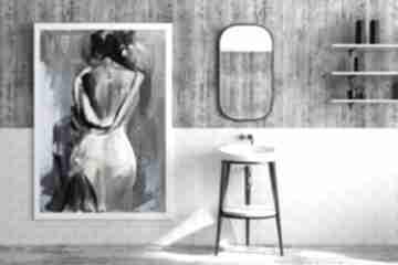 Woman 100x70 galeria alina louka obraz do salonu, zmysłowy obraz