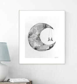 Obraz ręcznie malowany 40 x 50 cm, nowoczesna abstrakcja