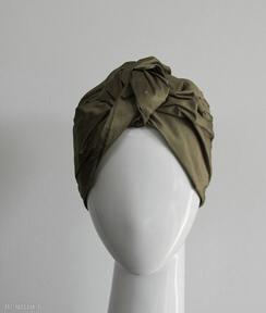 Jedwabny turban czapki fascynatory turban, jedwab, szantung