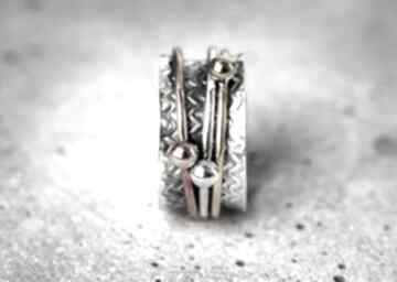 925 srebrny pierścionek medytacja ezoteryka srebro pozłacane