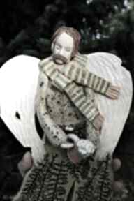 """Anioł """"piwko"""" dekoracje enio art anioł, anioł-dla mężczyzny,"""