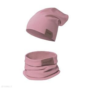 Komplet czapka i komin amarantowy czapki mamaiti komin