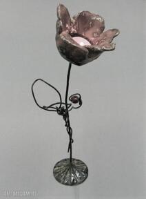 Świecznik kwiat iii ceramika santin ceramika, dekoracja