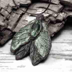 """Duży wisiorek """"leśny motyl"""" wisiorki kameleon motyl"""