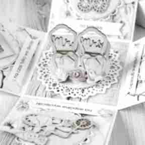 Pudełko - kartka prezent na ślub wesele scrapbooking kartki po
