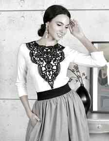 Kasia Miciak design Bluzka ecru z haftem