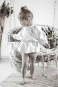 Komplet z tuniką - ecrie bejbistory dziewczynka, rękodzieło