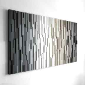 """Mozaika drewniana, obraz drewniany 3d """"pr"""" na zamówienie"""