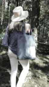 Prosta jeansowa torba z kieszonką na ramię gabiell ekotorba