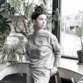 Pastelowy komplet damski - flora bluzy mimi monster dres, dres