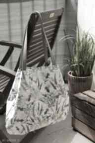 Lawendowy worek na ramię happyart torba, worek, kwiatowa