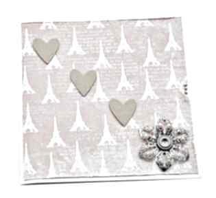 Kartka pełna miłości - zakochany paryż scrapbooking kartki