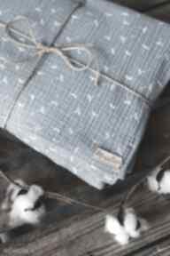 Muślinowy otulacz z poduszką - niebieskie dmuchawce pokoik