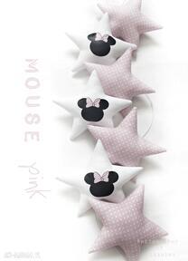 Mouse pink - girlanda pokoik dziecka pracowniaktorejniema