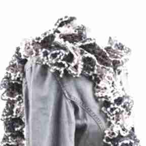 Fantazyjny szal - róż z niebieskim szaliki pro self szalik