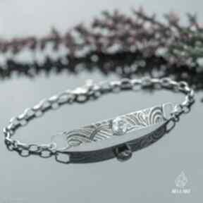 Srebrna bransoletka łańcuszek z topazem pracownia bellart