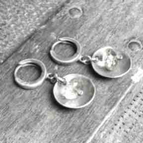 Kolczyki ze srebra i cytrynów treendy srebrne, z-cytrynem