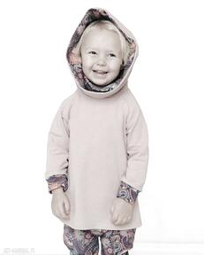 Bluza dla dziecka z komino-kapturem orient fiolet 80 86, 92 98