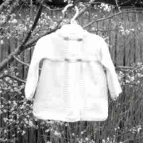 Komplet agatka dziane sweterek, płaszczyk, dziewczynka, niemowlę