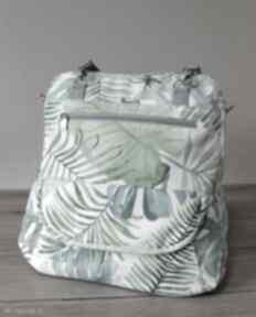 Plecak torba listonoszka - tropikalne liście torebki niezwykle