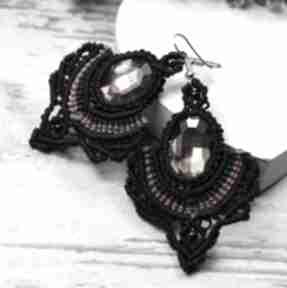 """""""emily"""" kolczyki z pięknie mieniącymi się szklanymi kryształami"""