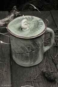 Kubek z pokrywką paproć kubki enio art na zioła,
