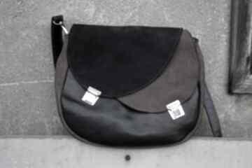 Celyna torba dwukomorowa czerń brąz na ramię czajkaczajka