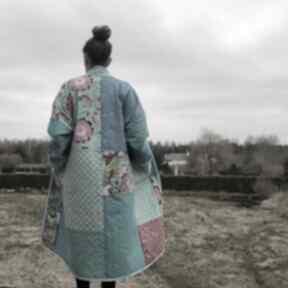 PatchworkArt! boho folk patchwork waciak kimono kieszenie
