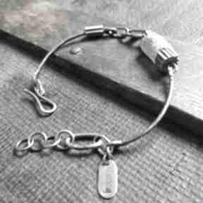 Bransoletka ze srebra i szkła antycznego treendy szkło afgańskie