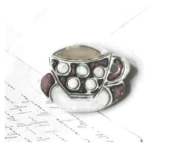Broszka fiiżanka broszki wylegarnia pomyslow ceramika, broszka