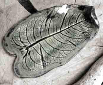 Liść ceramiczny, talerz, patera c231 ceramika shiraja liść