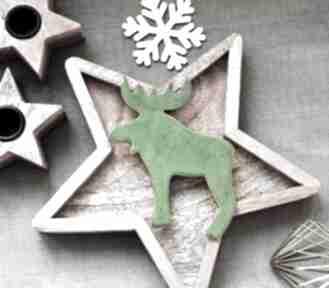 Upominek na święta: Łoś ceramiczny ceramika wooden love łoś,