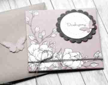 Dziękujemy:: kartka handmade:: podziękowanie kartki