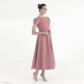 Sukienka 22 ss 2021 sukienki pawel kuzik bawełniana, malinowa