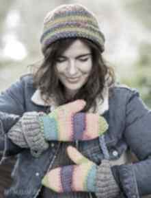 Rękawiczki rainbow brain inside rękawiczki, ciepłe, kolorowe