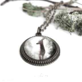 Medalion, naszyjnik - sarna antyczny brąz naszyjniki liliarts