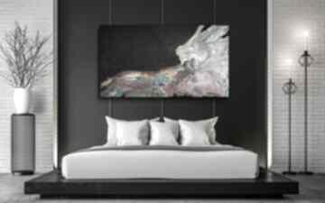 Obraz ręcznie malowany - tęczowa lawina 140x80 cm art is hard