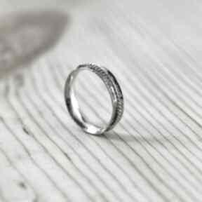 Obrączki zgustem obrączka srebrna, ręcznie robiona, srebro 925