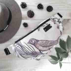 Nerka xxl ptak pudrowy róż nerki godeco nerka, pojemna, prezent