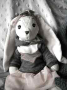 Duży królik pani królikowa, przytulanka, pluszowa maskotka