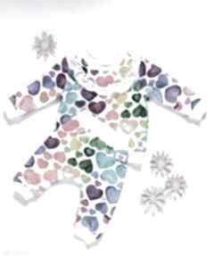 Komplet bluza i spodnie baggy niemowlęce serduszka 56 -98 tree
