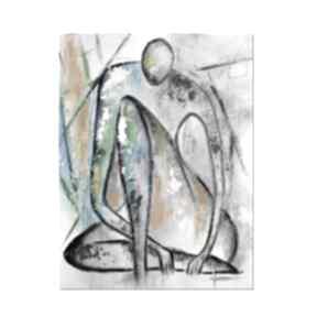 Marceau, nowoczesny obraz ręcznie malowany aleksandrab obraz