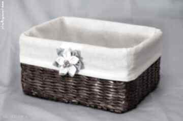 Prostokątny koszyk eko koszyczek kwiatuszkiem pudełko
