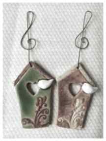 Karmniki zielono-brązowe ceramika wylegarnia pomyslow ceramika