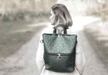 Torba plecak 2 w 1 z zielonej skóry ekologicznej bags philosophy