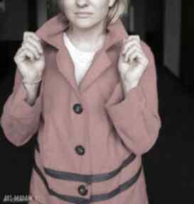 płaszcze: płaszcz czerwony etno boho folk damski