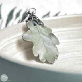 Dąb - naszyjnik z prawdziwym liściem dębu naszyjniki pracownia