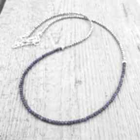 naszyjniki. srebro naszyjnik lapis lazuli hematyt